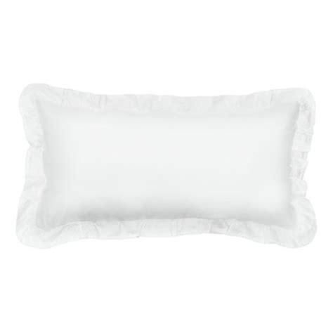 White Bedroom Throw Pillows Ruffle Throw Pillow The Soft White Ruffles Crane Canopy