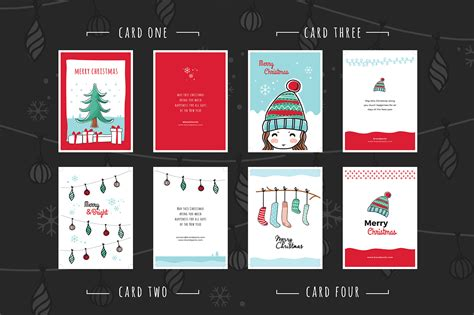 Free Christmas Card Templates For Photoshop Illustrator Brandpacks Greeting Card Template Illustrator