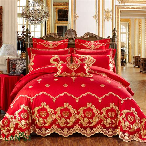 red and gold bedding compare prices on red gold bedding online shopping buy