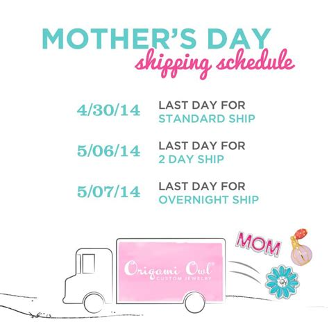 Origami Owl Shipping - origami owl mothers day 2014 shipping schedule