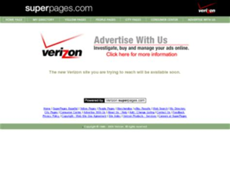 Verizon Superpages Lookup Benefitmatters Superpages Yellow Pages
