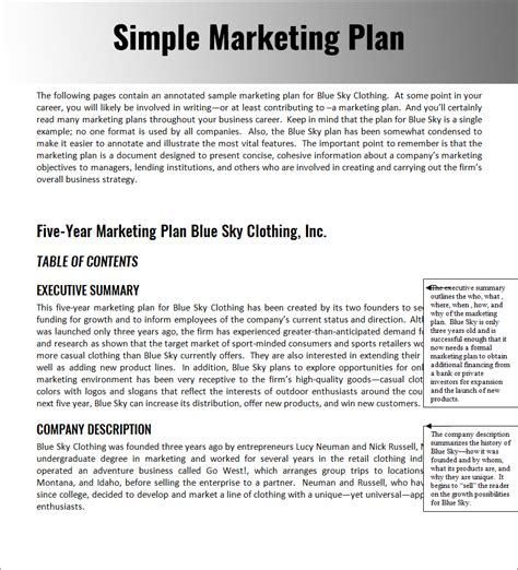 32 Free Marketing Strategy Planning Template Pdf Ppt Download Simple Marketing Plan Template 2