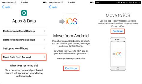 how to move apps on android guide how to use move to ios on iphone ipod