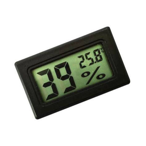 Mini Lcd Digital Thermometer Hygrometer Black 1 mini black digital lcd display thermometer hygrometer temperature indoor convenient temperature