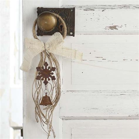 Tin Door Decorations by Rustic Jute And Metal Door Hanger Decor