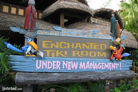 the enchanted tiki room new management yesterland the enchanted tiki room new management