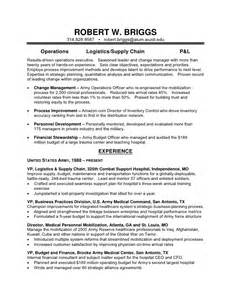 Us Army Resume by Us Army Resume Sles