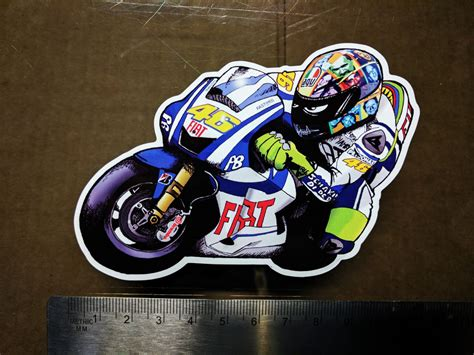 Motogp Helm Sticker valentino decal sticker moto gp laptop helmet bike