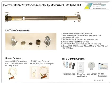 somfy motor parts heavy duty 110v ac somfy st506s2 sonesse rts lift kit