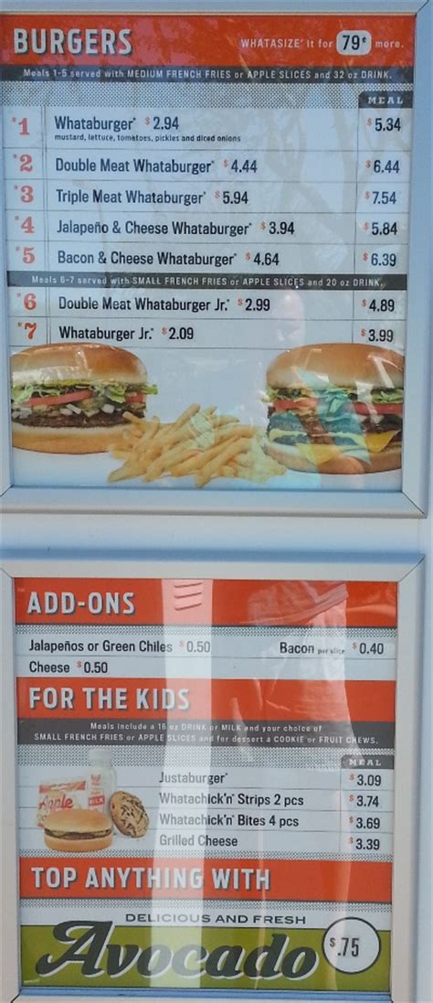 menu cuisine az fast food source fast food menus and blogs whataburger menu