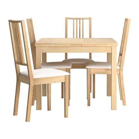 Dining Room Tables And Chairs Ikea Bjursta B 214 Rje Table And 4 Chairs Ikea