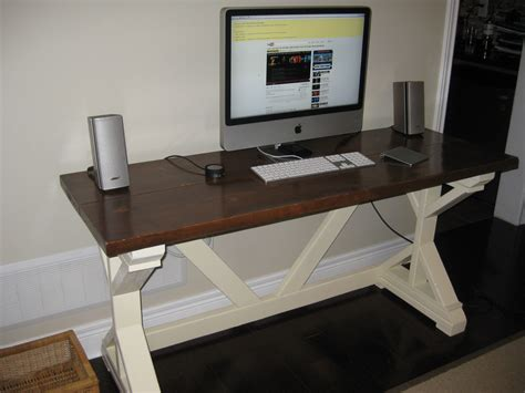 fancy computer desks ana white fancy x desk diy projects