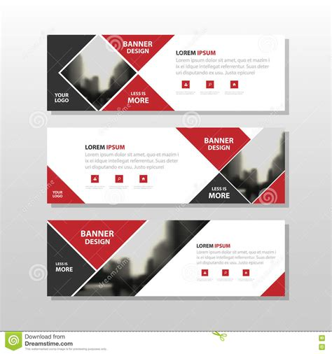 layout masthead template abstract background with square banner cartoon vector