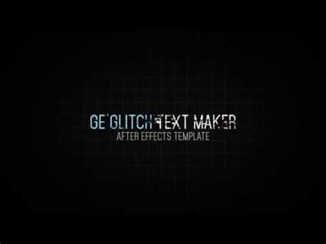 Ge Glitch Text Maker Videohive Templates After Effects Project Files Youtube After Effects Text Templates