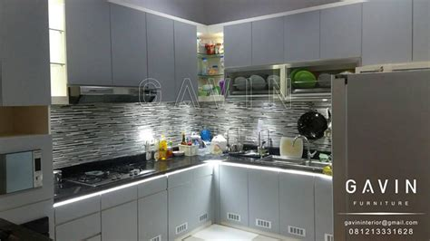 Multiplek Finishing Hpl project kitchen set minimalis modern di sunter by gavin