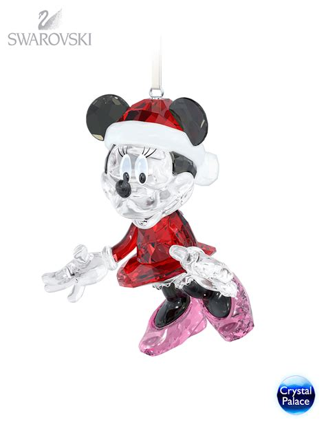 swarovski disney minnie mouse christmas ornament