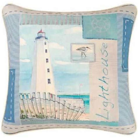 the art of pillow arrangements seaside interiors home decor store lighthouse pillow beach house and