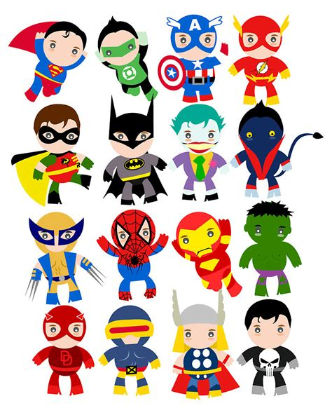 printable super heroes pictures free superhero party clipart decoration printables