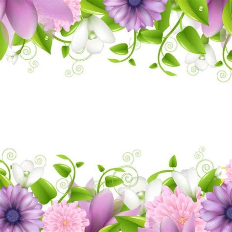 9 flower border templates psd vector eps ai