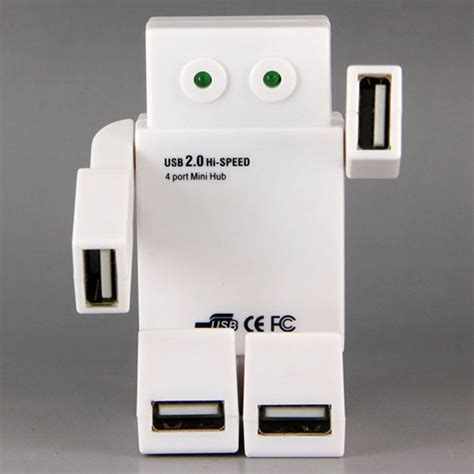 Usb Hub Robot Adapter Adapter Robot Usb Hub 4 Port Hub Prsn robot usb hub no transformer but still cooler than yours technabob