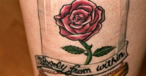 ugly rose tattoo my newest it says on the skin lovely from