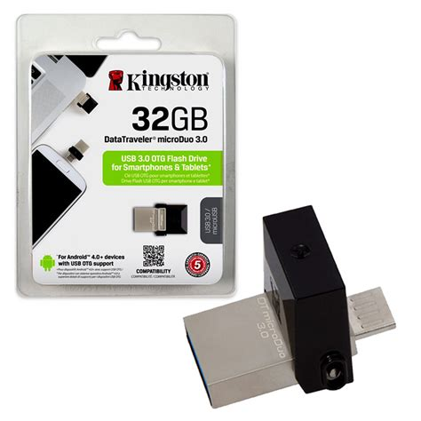 Memory Android 32gb 32gb Kingston Microduo Usb 3 0 Otg Flash Drive For