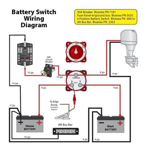 wiring diagram boat battery diagrams batteries 24v