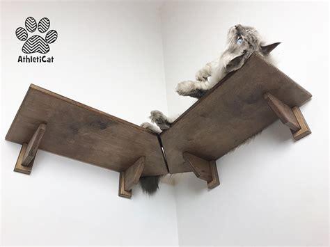 mensola angolare legno mensola angolare per gatti in legno made in italy