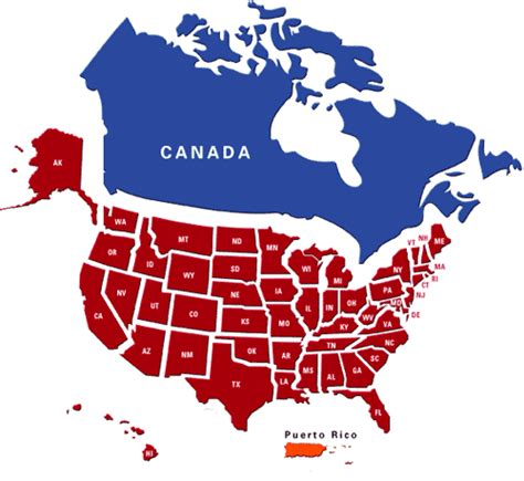 map usa canada gaga map of canada and us