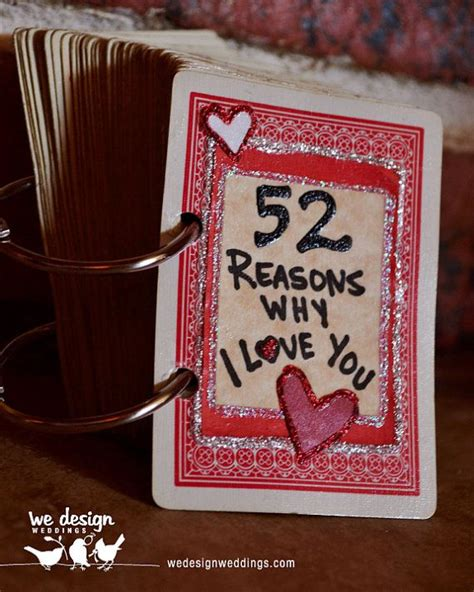 Playing Card Gifts - 52 reasons why i love you playing card book celebrate pinterest love my mom