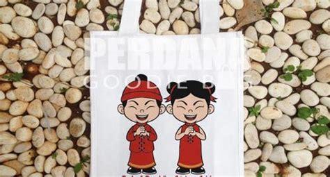 Tas Spunbond Untuk Kue Keranjang tas souvenir imlek untuk buah tangan tahun baru yang