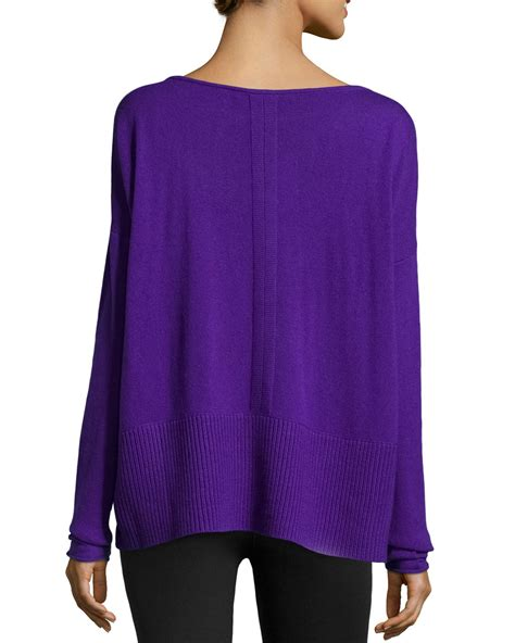 purple knit sweater diane furstenberg sleeve knit sweater in purple