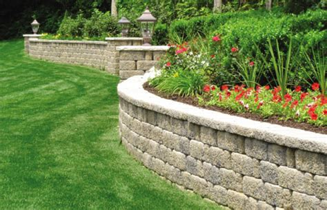 garden retaining wall options retaining wall options landscape omaha landscaping