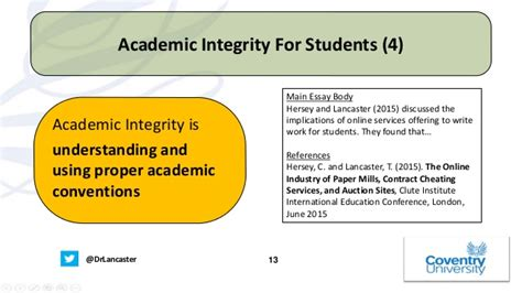 Mba Academic Honesty by Term Paper Mills And Academic Integrity