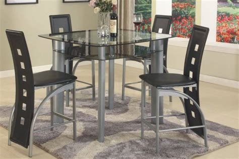 counter height dining room set black metro 5 piece counter height set dining room sets