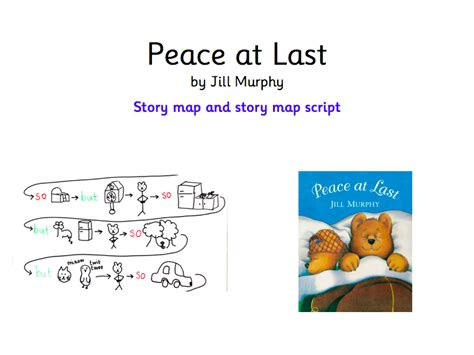 peace at last peace at last by jill murphy story map and story map script by elmo001 teaching resources tes
