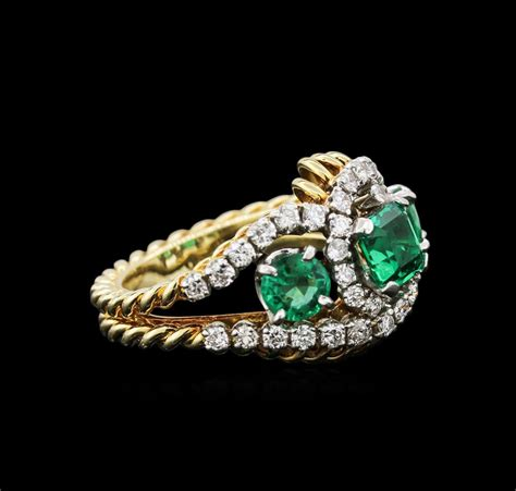 jewelry auction 14kt gold emerald and rings