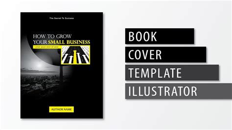illustrator tutorial book cover template