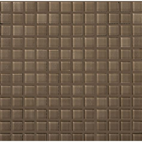 shop emser lucente soft mauve glass mosaic square wall tile common 12 in x 12 in actual 12