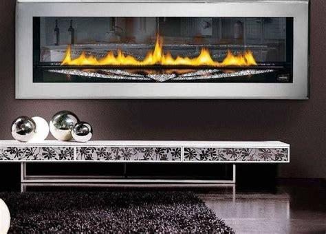 futuristic wall mount gas fireplace design also