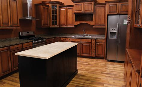 Menards Kitchen Islands | a butcher block top makes a great countertop for kitchen