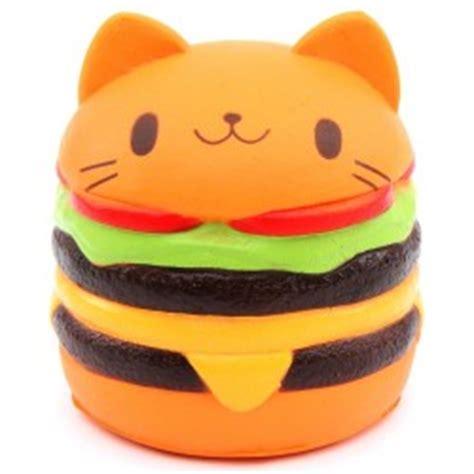 Jumbo Gudetama Hamburger Squishy Rising Orange small shape burger with squishy charm