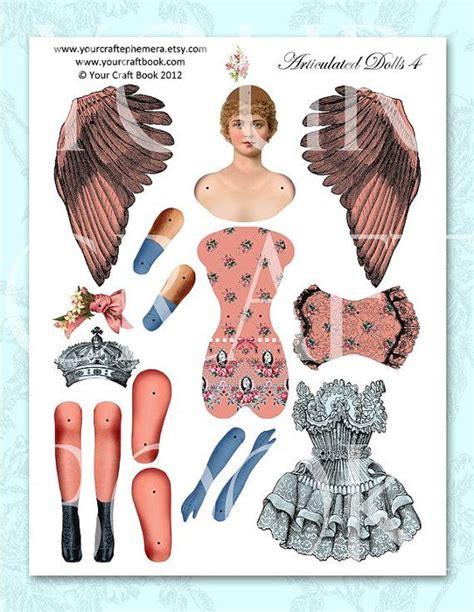 vintage paper doll digitial download by yourcraftephemera 25 best ideas about paper puppets on pinterest simple