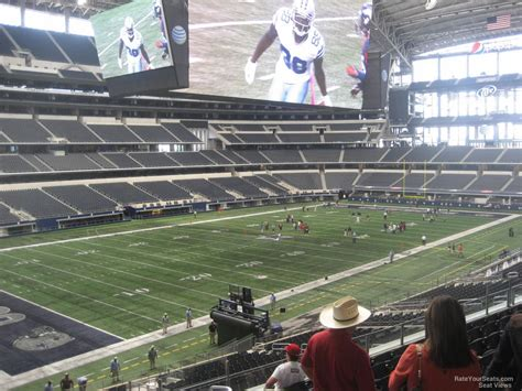 att stadium view from seats at t stadium section 242 dallas cowboys rateyourseats
