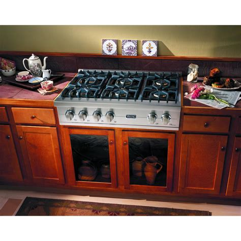 Viking Gas Cooktop 36 Inch viking vgrt536 6b 36 inch professional series gas cooktop with 6 burners stainless steel