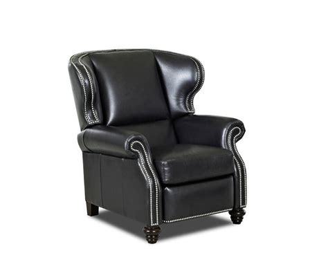 leather wing back recliner wingback leather recliner american made cl735