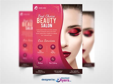 download hair salon beauty salon flyer template free download creative genie