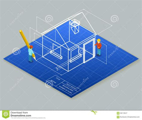 house architecture design blueprint blueprint architectural plans architect drawings for homes architectural design blueprint drawing 3d stock vector