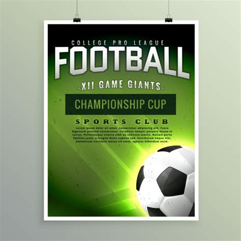 free templates for football posters football chionship poster template vector free download