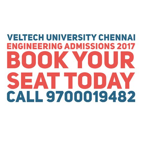 Vel Tech Mba Admission 2017 by Vel Tech Admissions 2018 Fees Structure Apply Now